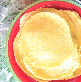 Homemade Hominy Tortillas